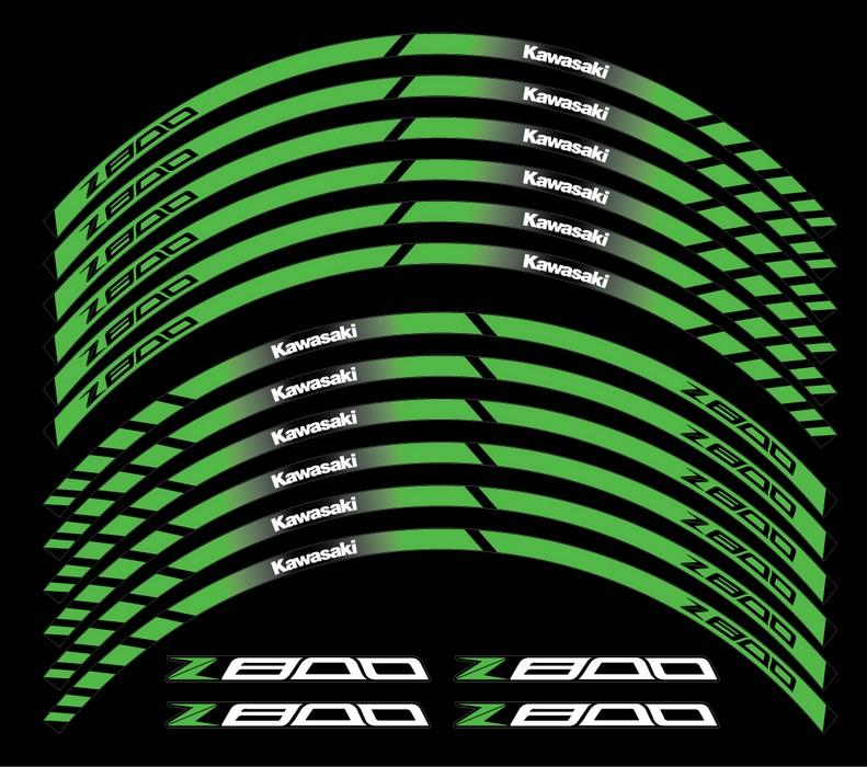 Kawasaki Z800 Rim Stripes 17