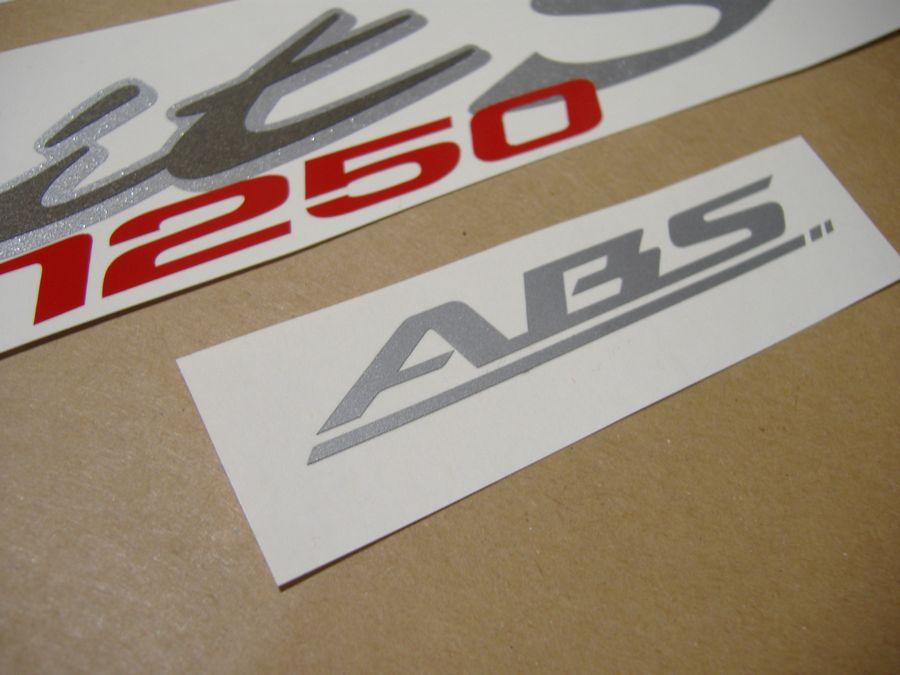 Suzuki Bandit GSF1250S 2007 Black Reproduction Stickers