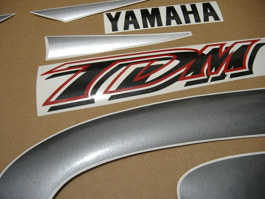 Yamaha Tdm 850 2000 Silvergrey Version Sticker Set