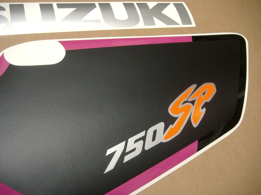 Suzuki Gsx R 750 1994 Whiteblue Sp Version Sticker Set