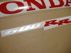 Honda CBR 600RR 2006 black logo graphics