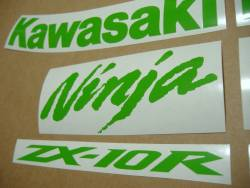 Kawasaki ZX10R Ninja lime green decals