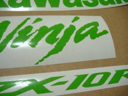 Kawasaki ZX-10R Ninja lime green logo decals