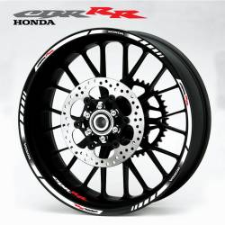 Honda CBR 900RR 919RR 929RR white wheel stripes