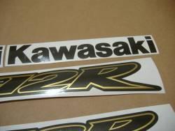 Kawasaki ZX12R Ninja gold complete sticker kit