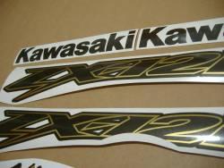 Kawasaki ZX12R custom gold charcoal adhesives