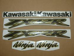 Kawasaki ZX12R custom gold charcoal decals