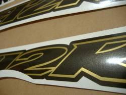 Kawasaki ZX12R custom gold charcoal graphics set