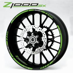 Kawasaki Z1000sx green wheel decals kit