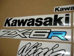 Kawasaki ZX6R 2012 2013 custom decals