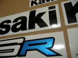 Kawasaki ZX6R Ninja 2012 2014 logo decals set