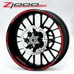 Kawasaki Z1000 SX red wheel lines decals