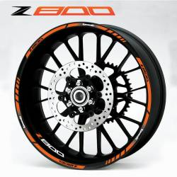 Kawasaki Z 800 orange rim stripes decals