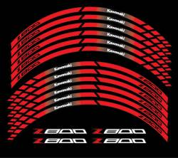 Kawasaki Z800 red wheel stripes stickers
