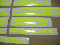 Honda CBR 250R neon yellow logo adhesives
