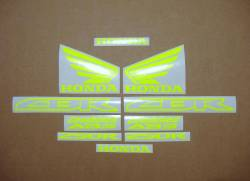 Honda CBR 250R fluorescent yellow decals