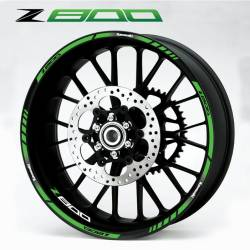 Green Kawasaki wheel stripes decals