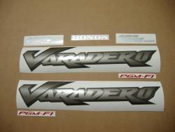 Honda XL1000V 2006 black full decals set
