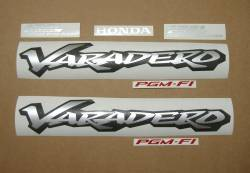 Honda XL1000V 2004 black stickers kit