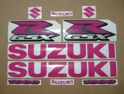 Suzuki GSXR 1000 hot pink graphics kit
