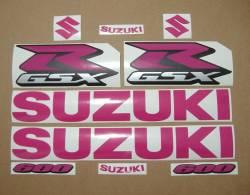 Suzuki GSX-R 600 pink complete graphics