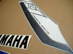 Yamaha R1 2011 RN22 blue decals stickers