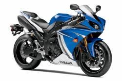 Yamaha R1 2011-2012 blue stickers set