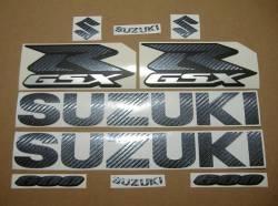 Suzuki GSXR 600 carbon fiber decals set