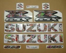 Suzuki GSXR 600 graffiti custom decals set