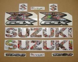 Suzuki Gixxer 1000 skull customized decals
