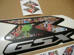 Suzuki GSX-R 750 graffiti customized decals logo