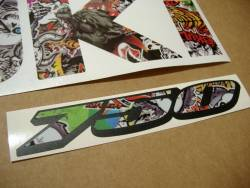 Suzuki GSX-R 750 stickerbomb custom graphics