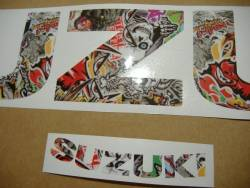 Suzuki GSXR 750 graffiti custom decals set