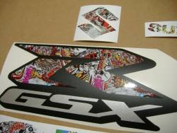 Suzuki Gixxer 750 skull graffiti custom stickers