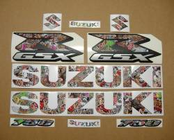 Suzuki Gixxer 750 skull custom full decals set