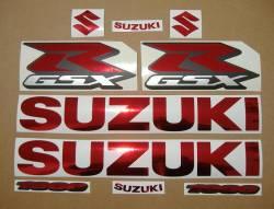 Suzuki GSX-R 1000 chrome burgundy graphics