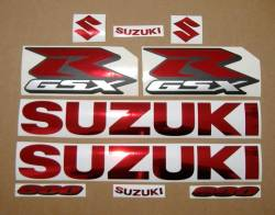 Suzuki Gixxer 600 chrome red decal set