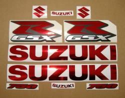 Suzuki GSXR 750 chrome burgundy decals set