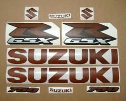 Suzuki GSXR 750 brown leather stickers kit