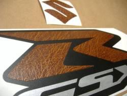 Suzuki GSXR 1000 brown leather custom decal set