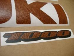 Suzuki GSXR 1000 brown leather customized stickers
