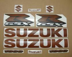 Suzuki Gixxer 1000 brown leather look decal set