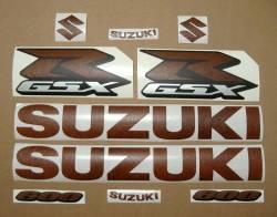 Suzuki GSX-R 600 brown leather look graphics