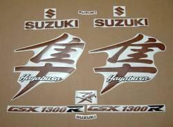 Suzuki Hayabusa mk1 brown leather look graphics