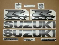Suzuki Gixxer 600 gray metallic graphics srad