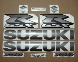 Suzuki GSXR 750 graphite gray decals srad