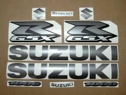 Suzuki GSXR 1000 graphite gray custom decal set