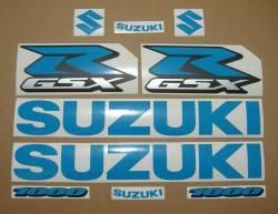 Suzuki GSXR 1000 light blue adhesives labels