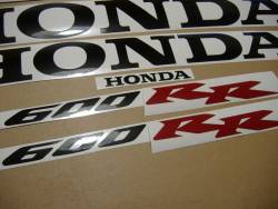 Honda 600RR 2006 complete sticker kit