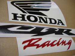 Honda CBR 600RR 2006 silver adhesives set